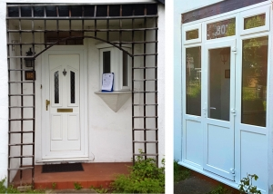 Vale Door before and after
